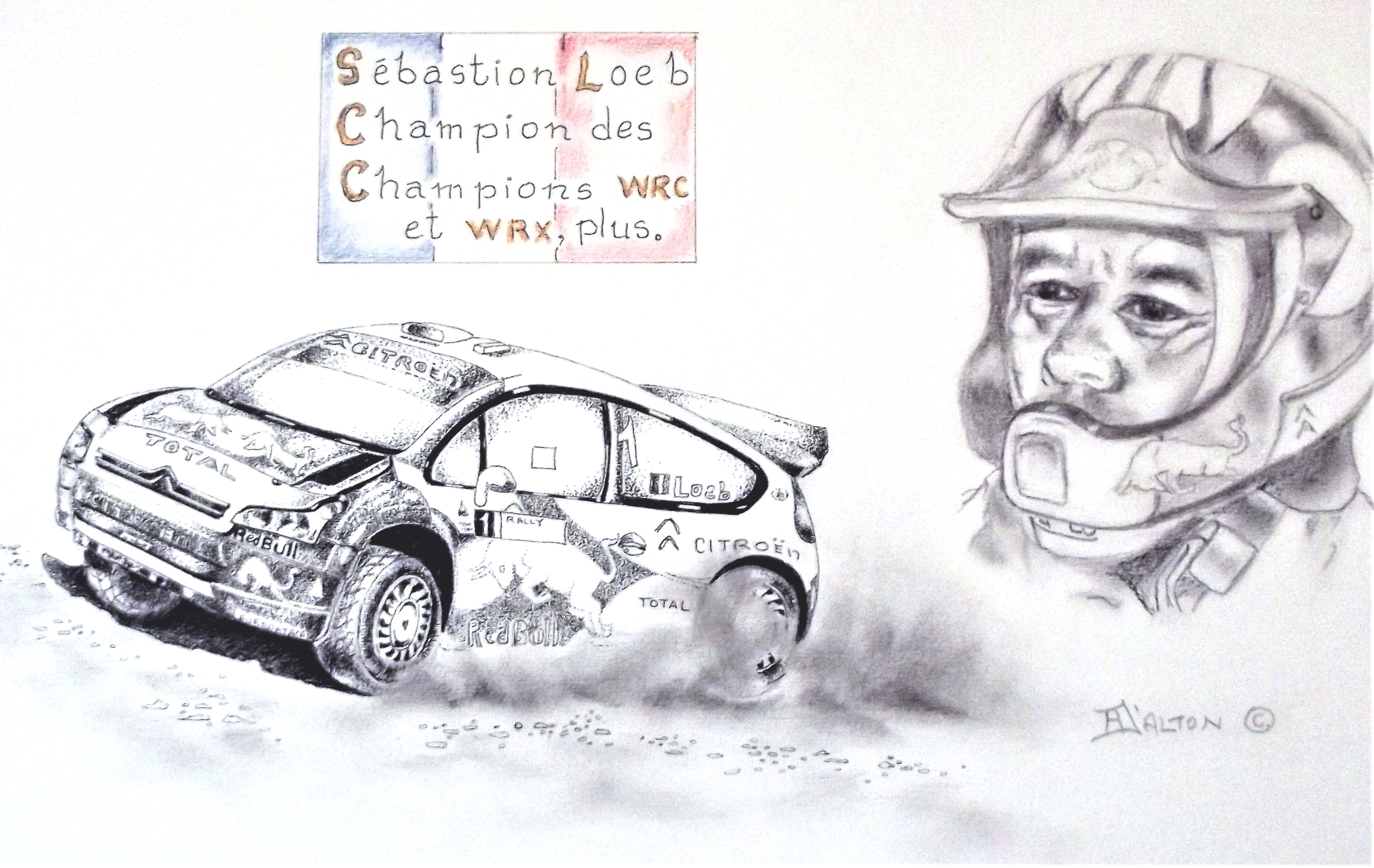 Sébastion Loeb and his Citroen WRC.