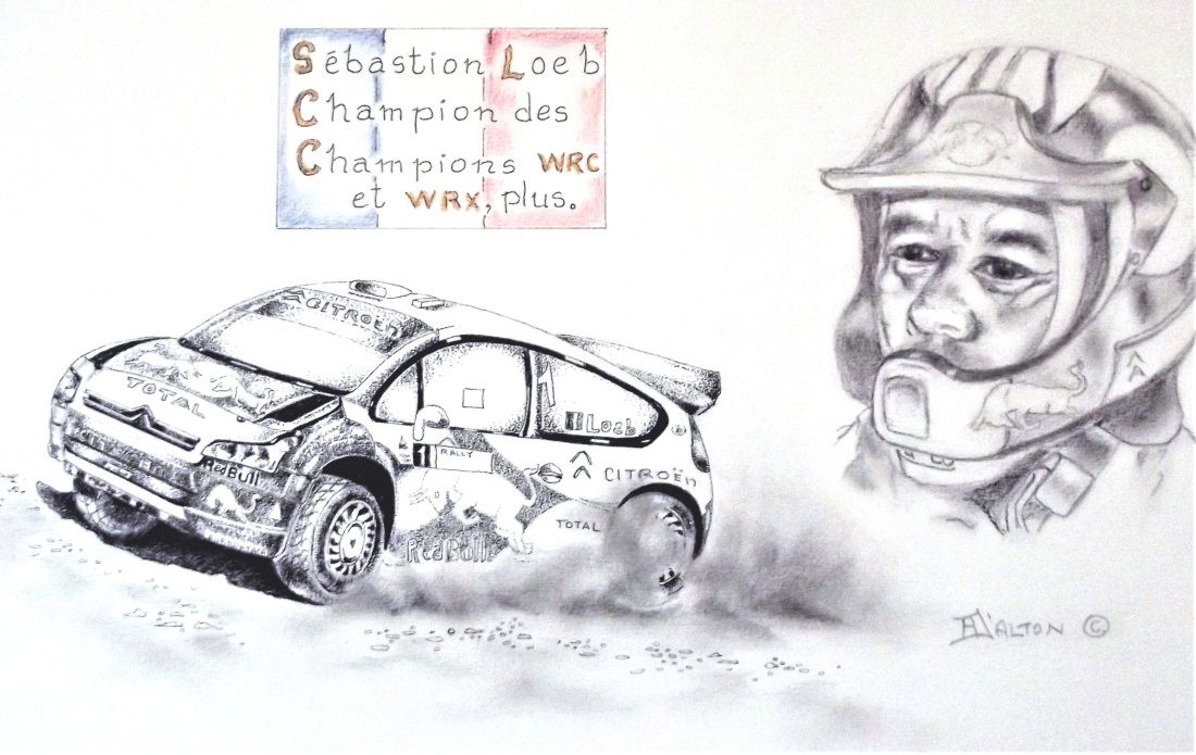 Sébastion Loeb and his Citroen WRC.